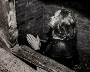 Priest hide under the stairs .jpg